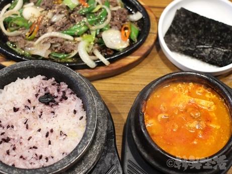 ソウル 狎鴎亭 清潭スンドゥブ 焼肉定食 純豆腐チゲ