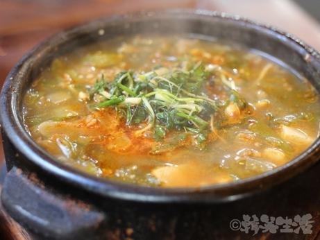 韓国グルメ ソウル 仁寺洞 ひとり焼肉 モクサル定食 テンジャンチゲ トマ
