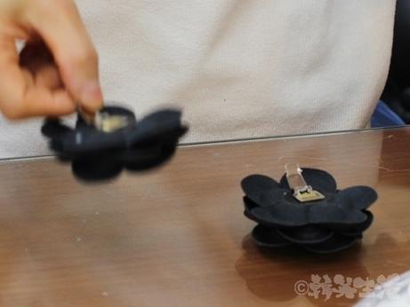 東大門 総合市場 サンダル ブローチピン シューズブローチ シャネル風 コサージュ