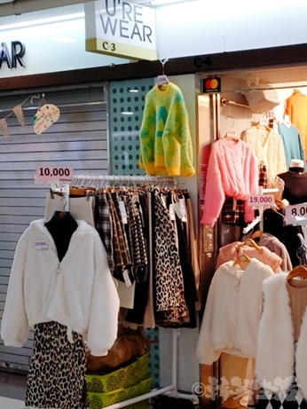 南 地下ショッピング街 洋服 韓国ファッション ヒョウ柄