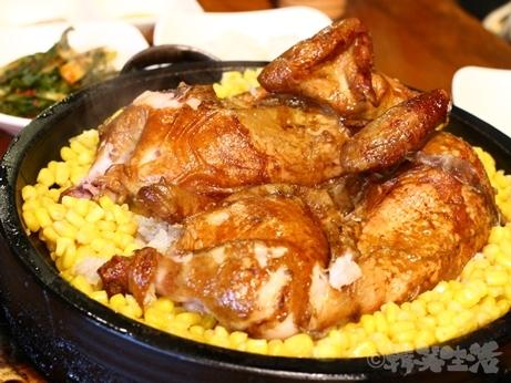 韓国グルメ 鶏の丸焼き 東大門 ケリムウォン ヌルンジ トンタッ コーン チーズ