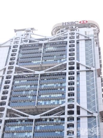 香港 金運スポット 香港上海銀行 ライオン