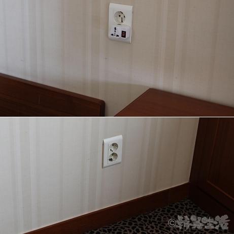 韓国 ホテル 清潭 リベラホテル コンセント