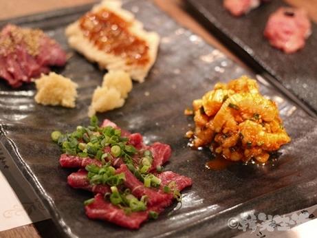 にくがとう 田町 焼肉 肉の刺し身