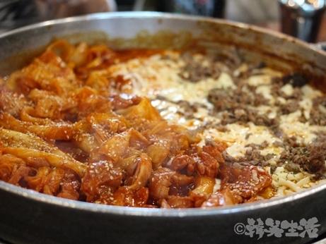 韓国グルメ チーズタッカルビ 明洞 プルコギチーズタッカルビ