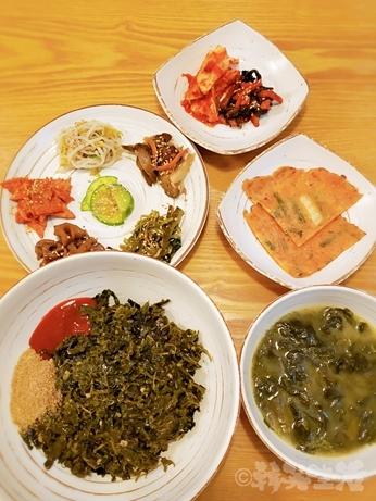 韓国グルメ 南大門 ワカメスープ 薬草ビビンバ 慶州チャンモニム