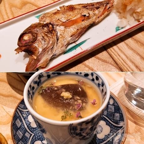 恵比寿 代官山 秀治郎 日本酒 のどぐろ 茶碗蒸し