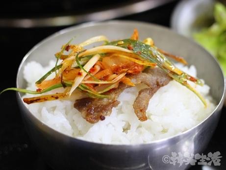 ソウル 合井 サムギョプサル ご飯