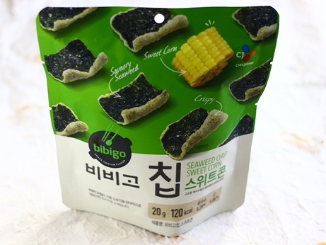 韓国土産 明洞 ソウル お土産 マート CJ食品 ビビゴ 海苔チップ とうもろこし味
