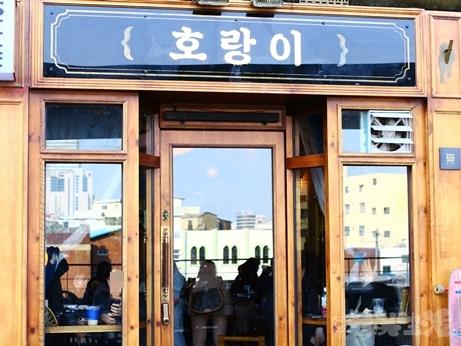 韓国スイーツ フルーツサンド 乙支路 カフェ ホランイ いちごサンド