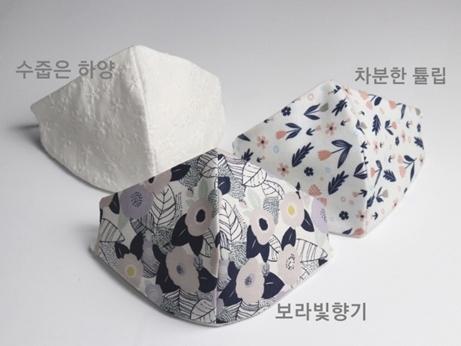 韓国 マスク コットン リネン 夏マスク