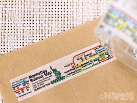 韓国 路線図 地図 マスキングテープ デザイン ゼロパーゼロ ゼロスペース