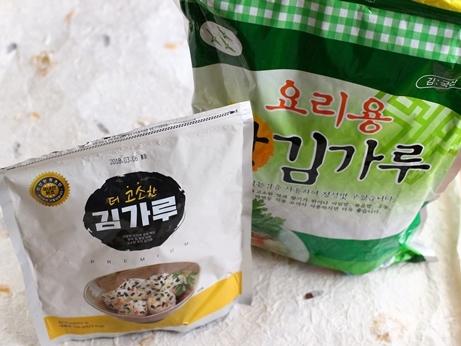 ソウル 中部市場 キムカル 韓国海苔