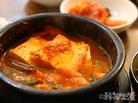 韓国 東大門 ユジョン食堂 チゲ