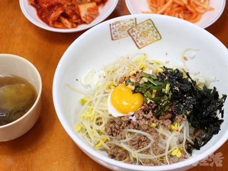 東大門 朝食 美味しい 食堂 モヤシご飯 ジャージャー麺