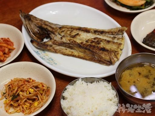 ソウル 東大門 サムチョンポ 焼き魚
