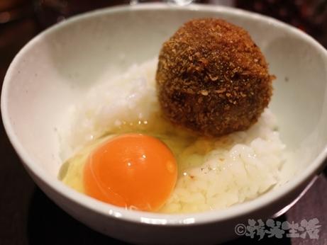 焼肉 吉祥寺 肉山 コース イチボ 深谷ネギ エリンギ 卵かけご飯