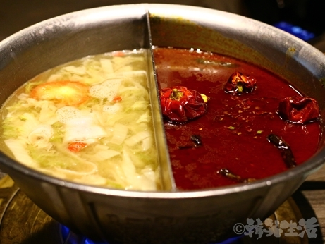 台湾グルメ 台北 火鍋 青花驕 麻辣鍋 酸菜鍋