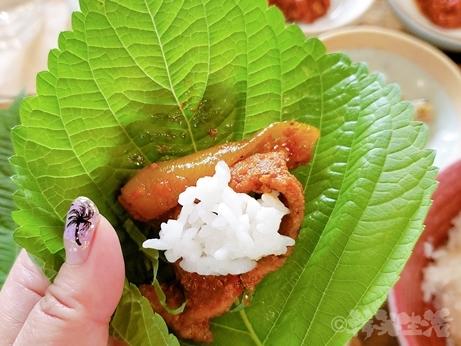 ;韓国グルメ ミシュランガイド トゥッソム駅 ハルモニのレシピ お一人様 サンパプ定食