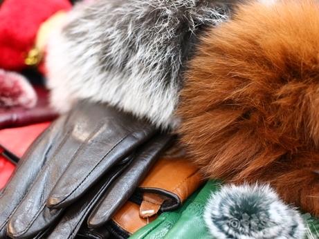 韓国 ソウル 買い物 光熙市場 ラムレザー 手袋 ファー フォックス