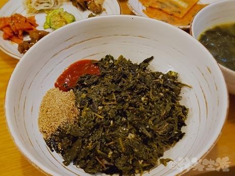 韓国グルメ 南大門 ワカメスープ 桑の葉ビビンバ 慶州チャンモニム 定食