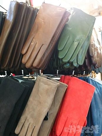 韓国 ソウル 東大門 手袋 革手袋 レザー 羊革 指なし手袋