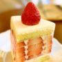 ビジュアルが可愛い苺タップリのケーキ@ソウル安国